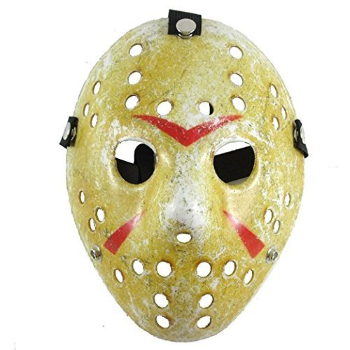 Friday The 13th Jason Hockey Mask (SureWells Friday the 13th Part3 Jason Hockey HORROR deluxe MASK Khaki)