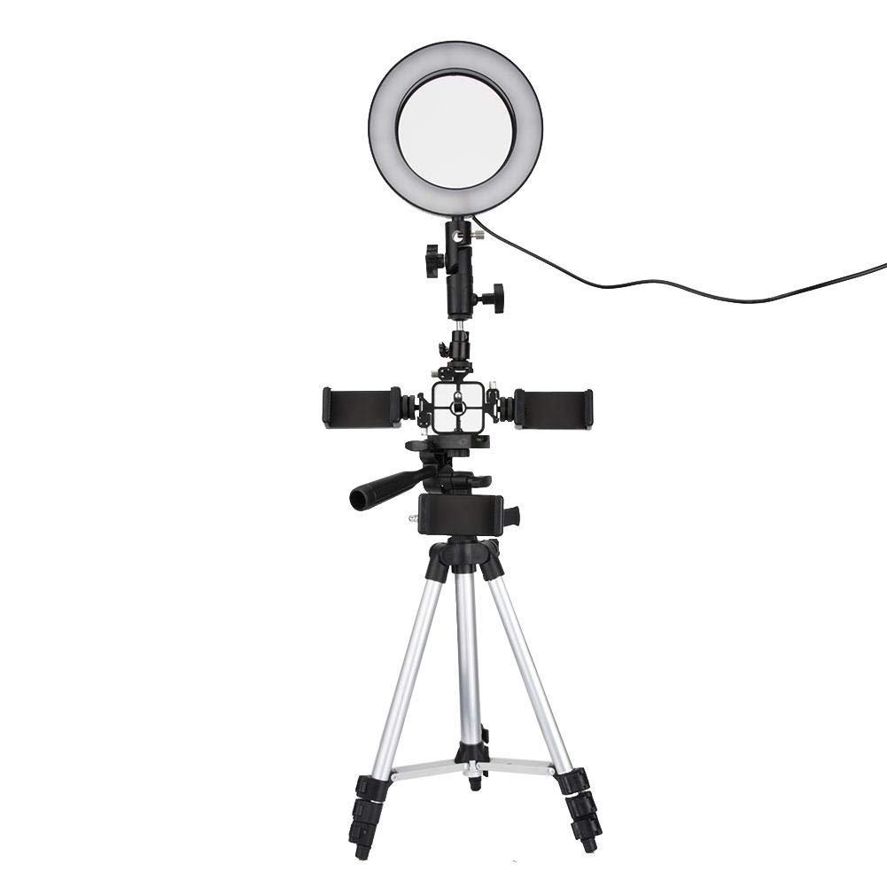 LED Ring Fill Light Tripod Holder Kit,Exquisite Durable 16cm Circular 240pcs Super High Lighting Bead Dimmable Flash Light kids Photography,Live Camera Photo Phone Video Ring Fill Light Tripod Set