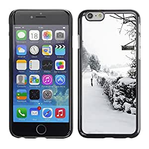 """Hot Style Cell Phone PC Hard Case Cover // M00100312 snow trees winter abstract // Apple iPhone 6 4.7"""""""