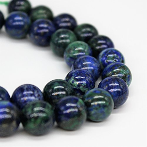 Azurite Chrysocolla Gemstone Loose Beads 8mm 46 Beads Per 15.5
