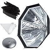 Godox Ad-s7 Ad360 Ad180 Flash Speedlite 45cm Umbrella Design Honeycomb Grid Octagonal Softbox, Multifuctional Ad360 Softbox Accessories (One Softbox, One Diffusion, One Honeycomb, One Aluminum Disc)