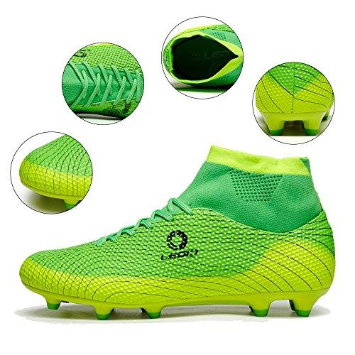 Homme chaussures soccer Vert pour Chaussures de 02 garçon football qZvxdBaqEw