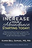 Increase Your Abundance Starting Today!: A Spiritual and Practical Guide to Transform Your Thoughts and Life to Attract More Wealth, Success and Joy After Debt, Bankruptcy or Failure