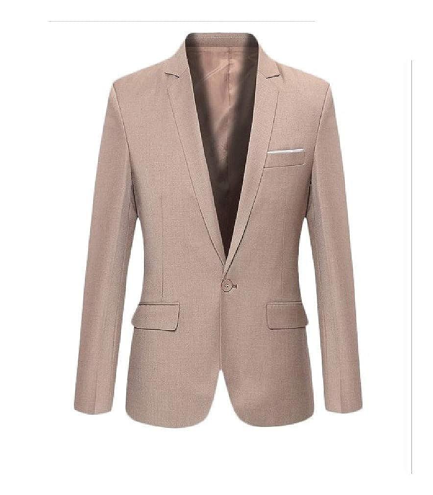 Doufine Mens Classic One Modern Casual Button Business Blazer Jacket