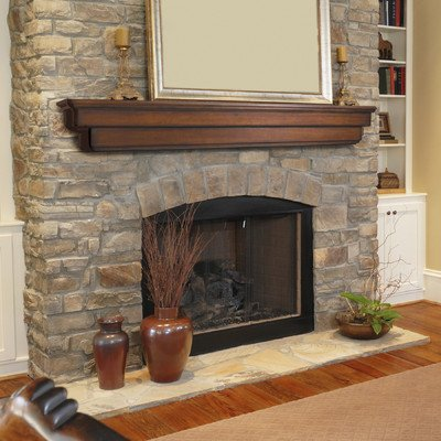 Auburn Fireplace Mantel Shelf Finish: Cherry Distressed, Shelf Length: (Distressed Cherry Finish Wood)