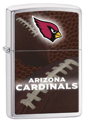 Zippo Pocket Lighter NFL Arizona Cardinals Brushed Chrome Pocket Lighter (Arizona Zippo)
