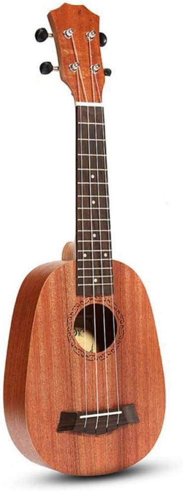 ZGHNAK 21 pulgadas 4 cuerdas estilo piña caoba ukelele Uke bajo eléctrico para guitarra instrumentos musicales amante de la música