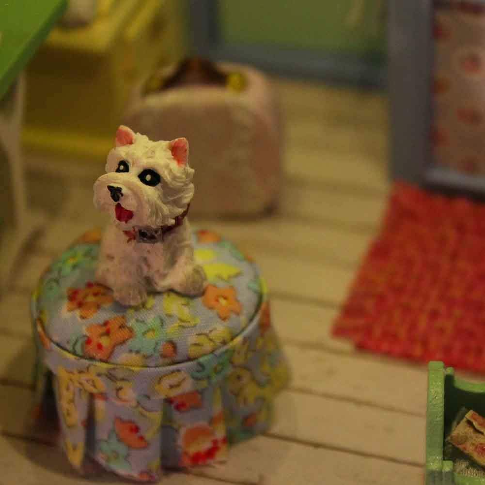 3D DIY Puppenhaus Haus Handgefertigt Spielzeug Miniatur Holzhaus M/öbel Zubeh/ör Holz Puppenhaus Handwerk Miniatur Kit Voice Controller Spieluhr als Kinder Geschenk