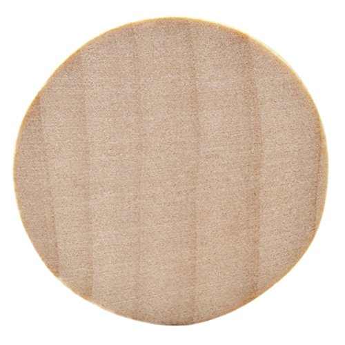 Natural Unfinished Round Wood Circle Cutout 2 Inch - Bag of 10