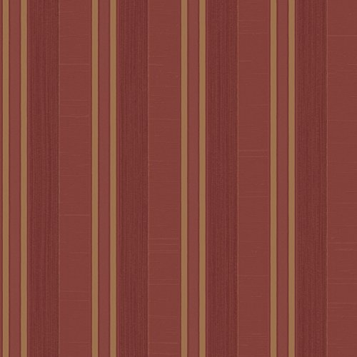 Galerie Wallcoverings Palazzo G67627 Red and Gold Multi-Stripe Wallpaper