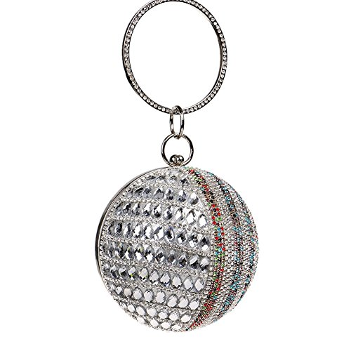 HKC Toca mi Bolso Redondo con un Vestido de Noche de Diamantes (Color : 3) 3