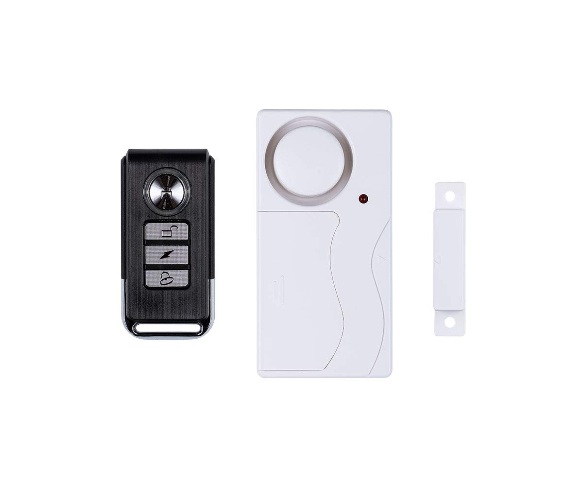 SABRE Door/Window Alarm with Remote – Simple DIY Home Security for Doors or Windows, Burglar Alarm with Loud 120 dB Siren, Set Alarm from a Distance with Remote – Easy to Install