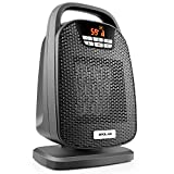 1500 Watt Digital Ceramic Space Heater with Oscillating Feature, Timer Shut off and On, Carrying Handle, Two Speeds, ETL Approved, Portable Carry Handle for Home, Office, Desk, Bedroom and Indoor