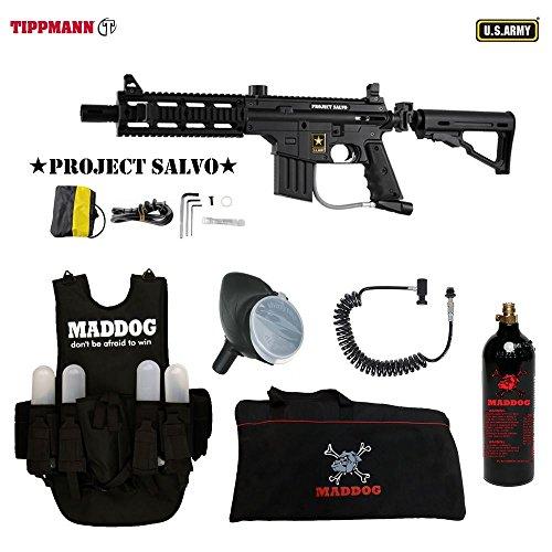 Sight 98 Adjustable Rail Custom (MAddog Tippmann U.S. Army Project Salvo Lieutenant Paintball Gun Package - Black)