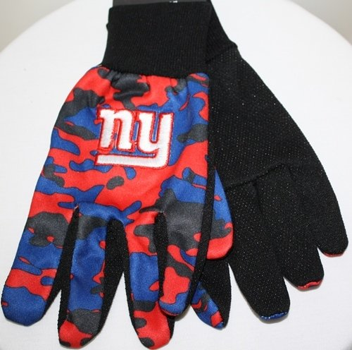 Forever Collectibles New York Giants NFL Camouflage Team Work Gloves