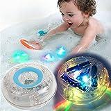 #3: Bathroom LED Light Toy Perfect Organizer Educational Bath Waterproof Funny Baby babies Floating Light-up Bathroom sets Bathing Tub Light Party Toys for Kids Boys Girls Bathtub storage