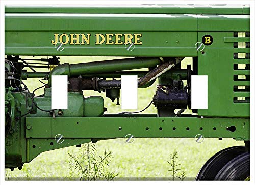 Mower Gang 3 - Switch Plate Triple Toggle - Tractor John Deere Farm John Farming Field Straw
