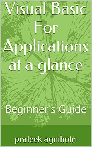Visual Basic For Applications at a glance - VBA: VBA Beginner's Guide
