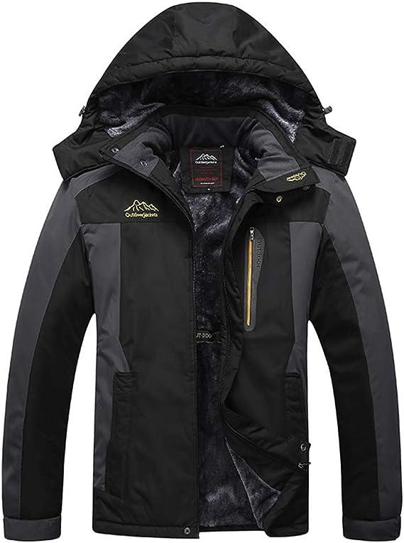 TACVASEN Veste Ski pour Homme Vestes Imperm/éable Chaudes Polaires Vestes De Randonn/ée Manteau /Épais avec Capuche Amovible