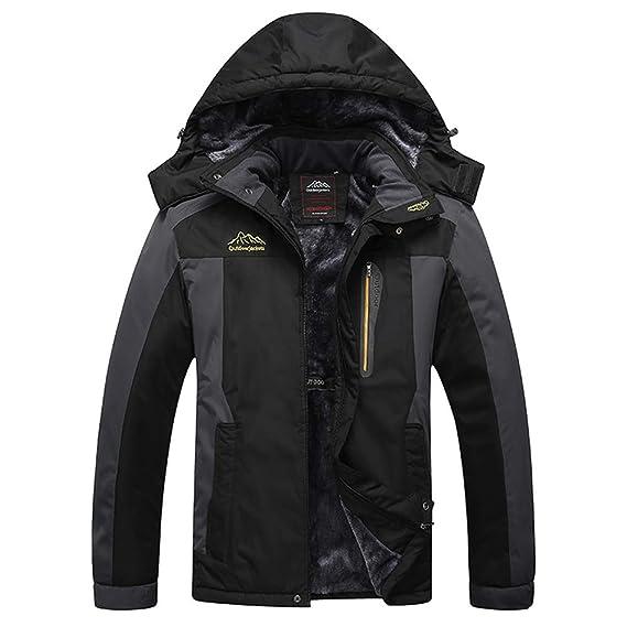 8cf72af9722c1 wenyujh' Hommes Manteau Épais Outwear Blouson Sport Escalade Alpinisme Ski  Chaud Automne Hiver Veste Capuche Manches Longues: wenyujh': Amazon.fr:  Vêtements ...