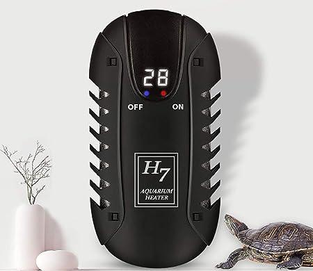 TUDIO Pequeño Calentador Sumergible del Acuario 100W, Mini Calentadores del Tanque de Pescados con la Pantalla Visible de la Temperatura LED y el regulador ...