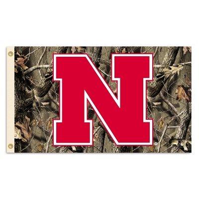 (Nebraska Huskers 3'x5' Realtree Camo Flag - 2013 Logo)