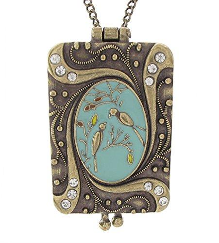 irdsong Art Nouveau Vintage Locket Love Bird Necklace (Nouveau Locket)