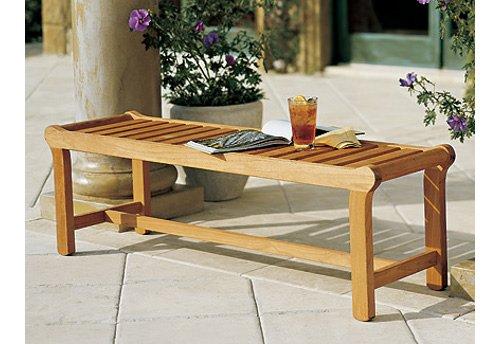 Bench Sold Separately (TeakStation Grade-A Teak Wood Luxurious 55