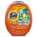 Tide Pods Plus Febreze Liquid Laundry Detergent Pacs, Botanical Rain, 73 Count