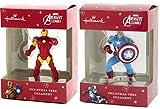 Hallmark Marvel Avengers Assemble Captain America & Ironman Christmas Tree Ornament Set of 2