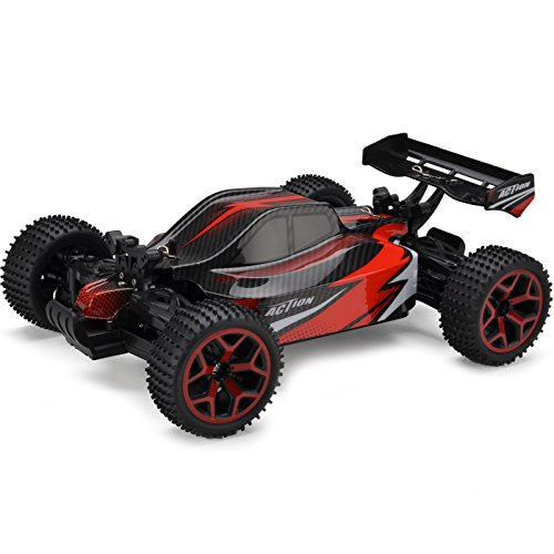 Off Road Remote Control Buggy - Cheerwing 1:18 Off Road Dune Buggy 2.4Ghz 4WD High Speed Remote Control Vehicle RC Car Red