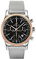 Breitling Men's UB015212-BC74 Transocean Analog Display Swiss Automatic Black Watch