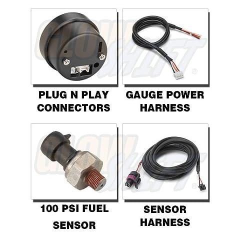 glowshift Elite 10 Color 100 PSI Medidor de presión de combustible: Amazon.es: Coche y moto