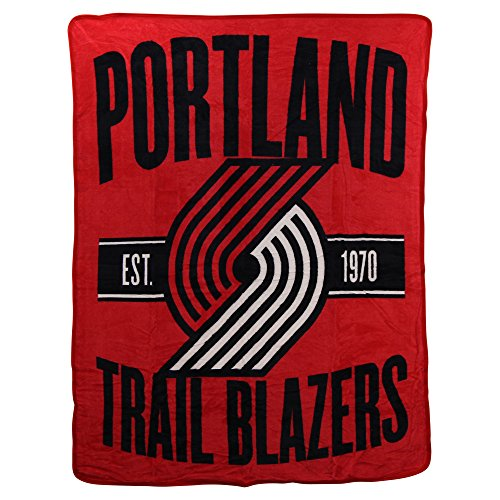 The Northwest Company NBA Portland Trail Blazers Clear Out Micro Raschel Throw Blanket, Red, One Size