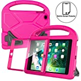 AVAWO Kids Case Built-in Screen Protector for iPad Mini 1 2 3 - Light Weight Shock Proof Handle Stand Kids for iPad Mini 1st Generation, iPad Mini 2nd Generation, iPad Mini 3rd Generation - Rose