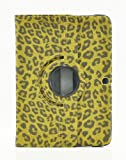 LiViTech(TM) Leopard Design 360 Degree Rotating PU Leather Smart Case Cover for Samsung Galaxy Tab 3 (7.0, Brown)