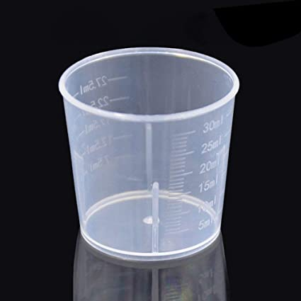 Small 30ml Measuring Cup Plastic Jug Beaker For Kitchens Laboratories Parts UK