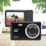HD Mini Digital Camera with 3 Inch TFT LCD Display,Digital Point and Shoot Camera Video Camera (Black)