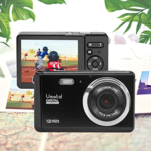 3 inch TFT LCD Rechargeable HD Mini Digital Camera,Vmotal Video Camera Digital Students Cameras with 8X Digital Zoom / 12 MP/HD Compact Camera for Kids/Beginners/Seniors