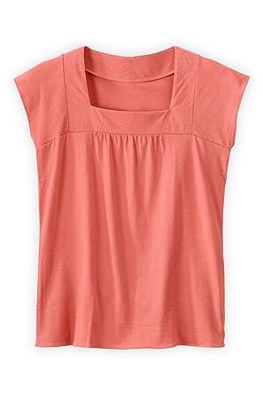 919567f7c45 Fair Indigo Fair Trade Organic Cap Sleeve Square Neck Tee at Amazon Women s  Clothing store
