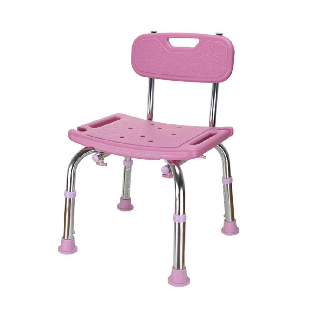 浴室用チェア、アルミ製シャワースツール、浴室用シート、取り外し可能、靴のベンチに使用できる、高齢者の浴室用スツール B07R78MJV5