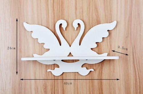 Amazon.com: Pequeño Cisne Blanco tallada Soporte de pared ...