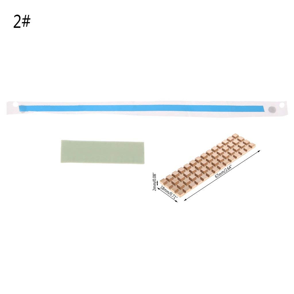 Pure Copper Thin Heatsink Thermal Pad For M.2 NGFF 2280 PCI-E NVME SSD 67 * 18mm 2MM Premium Quality by Yevison