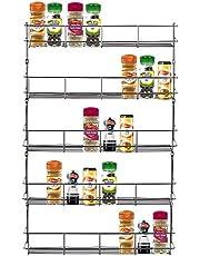 LETTUCE EAT ® Chrome 5 Tier 40 Potten Kruid Potje Rekhouder Voor Thuis Keuken Deur Kast Opslag of Wandmontage
