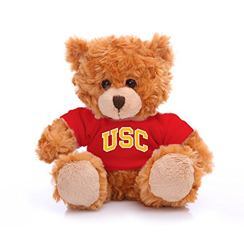 Plushland NCAA Collegiate Jersey Bear 6 Inches - Team Sports Vivid Clear Color Toy, Stuffed Animals Toy, State University, School Logo Kids, Bulk Parties Edition (USC) (Ncaa Stuffed Animals)
