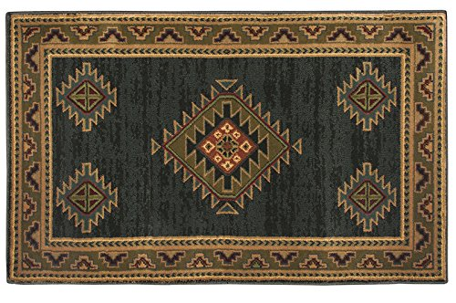 (Goods of the Woods HIGH Country Adobe Green Hearth Rug)