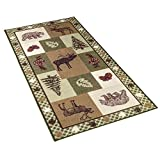 Collections Etc Northwoods Woodland Trails Rug