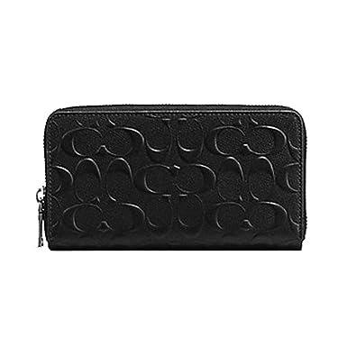 b5ef3d56b41f1 Amazon.com  Coach Men s Embossed Signature logo Durable Leather Long ...
