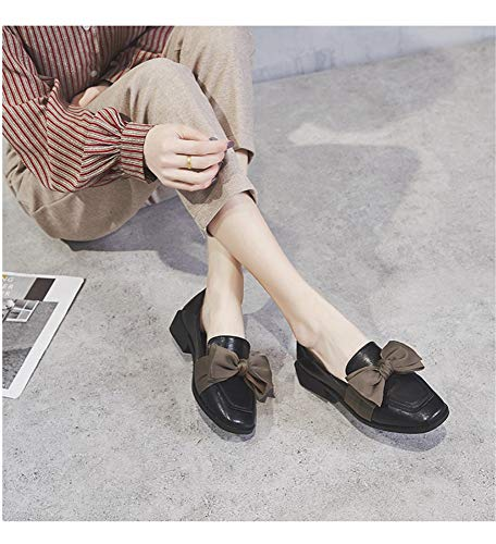 Chaussures Printemps À Des ArquéesFemme Mocassins Pois Bas Mignonnes Épaisses Talons Noir Avec Carrée De Tête Sauvage Et 8nP0OkwX