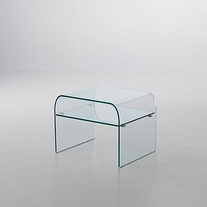 Mod. Pisolo - comodino in vetro curvato: Amazon.it: Casa e cucina